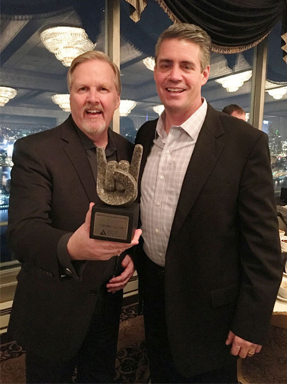Dave pictured with his award and Greg Anderson of the American Diabetes Association